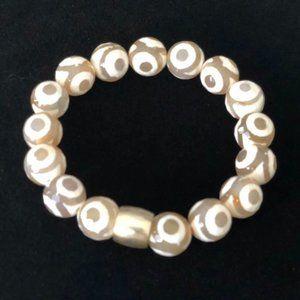 Safari Stretch Bracelet: Agate & Sterling Silver